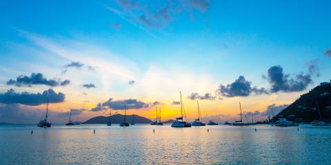 yachts on the horizon