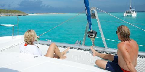 Couple overlooking Bahamas beach