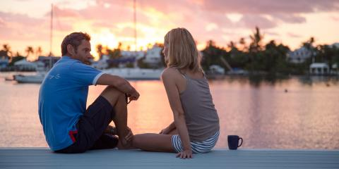 Couple enjoying sunset in Bahamas