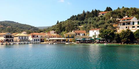 Corfu homes overlooking sea