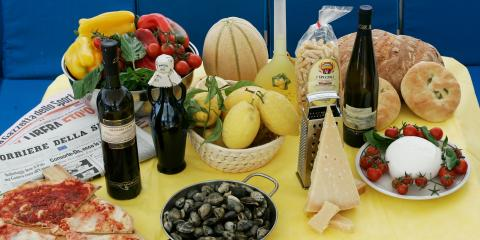 Table of various Procida foods