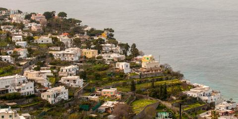 Procida homes overlooking sea