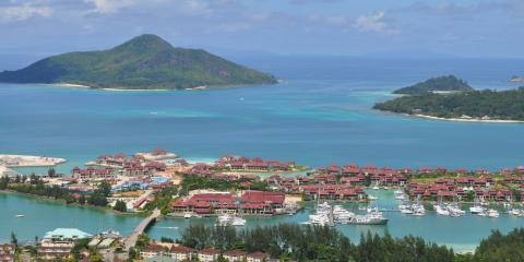 Sky-view of Seychelles homes