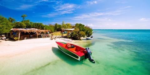 boat on Grenada beach