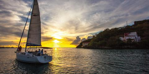 Sailing on Grenada sea