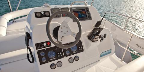 Moorings 393 PC steering wheel