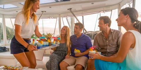 Couples sailing on Moorings yacht