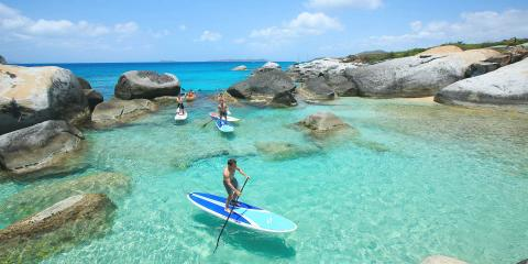 Stand up paddle boarding in the BVI