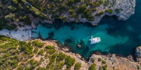 top view rya sailing school mallorca