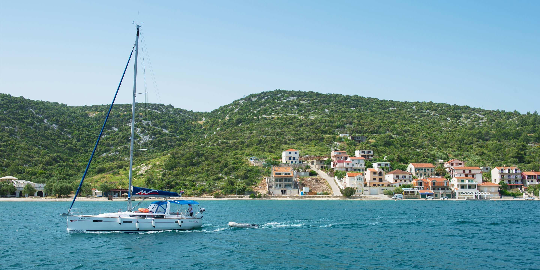 Sailing a monohull in Croatia