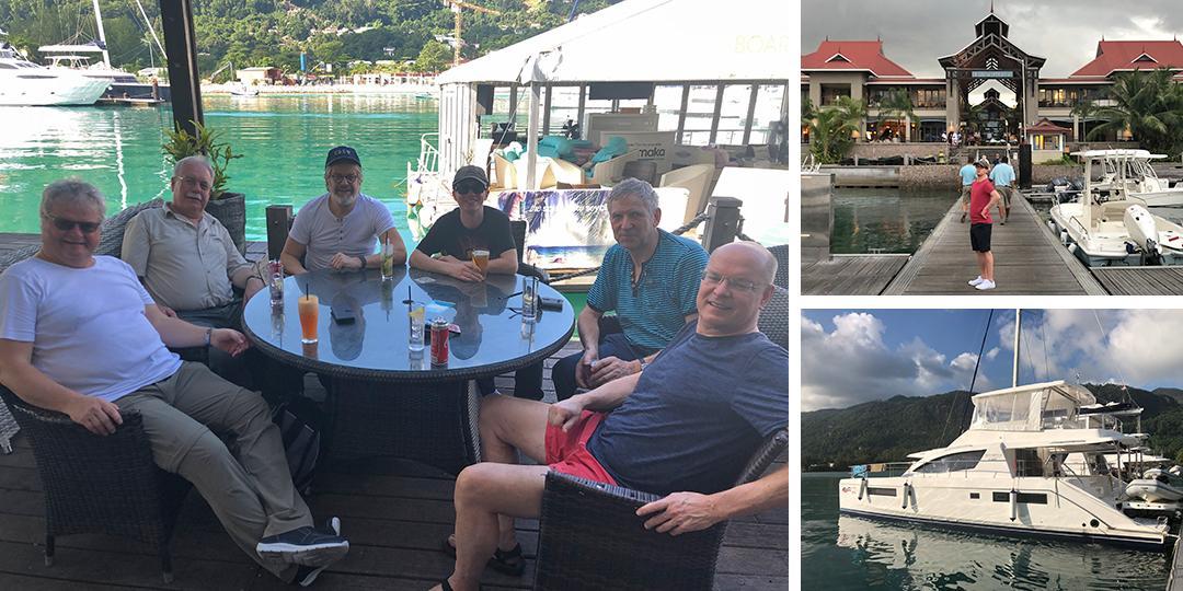 Start der Seychellen Yachtcharter in der Eden Marina