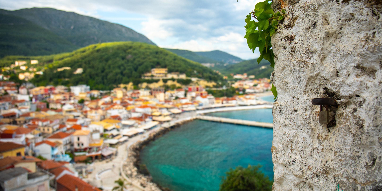 Top View Corfu Island Greece